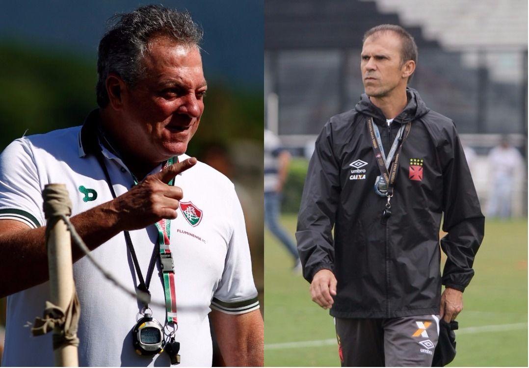 b9413f0f141fa Miton Mendes e Abel farão confronto de gerações de treinadores (Foto   Divulgação Fluminense Vasco)