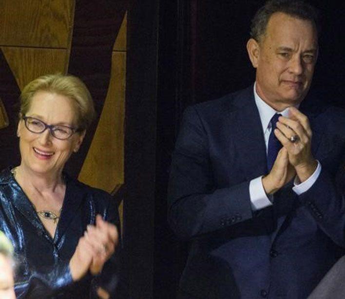 Em preparação para filme, Meryl Streep e Tom Hanks visitam jornal