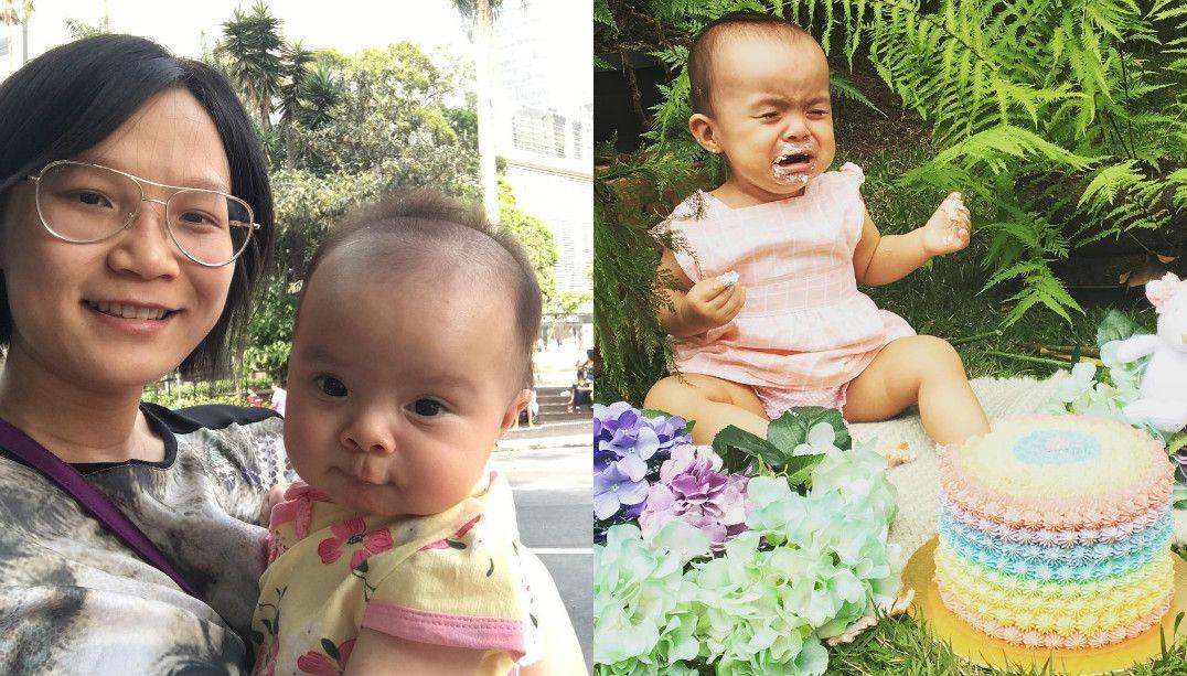 Jiang Pu comemora o primeiro aniversário da filha