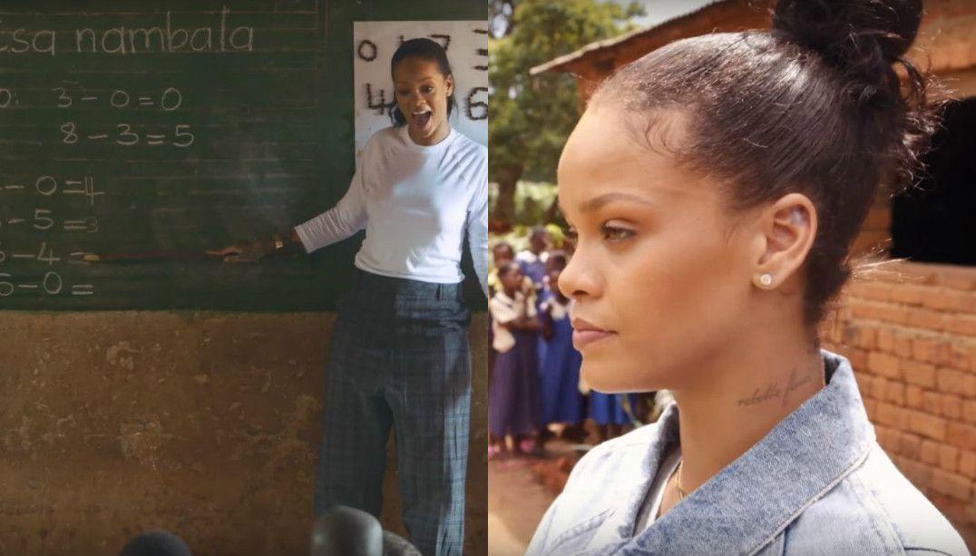 Rihanna visita escolas no Malawi em documentário
