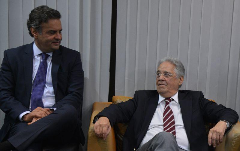 Aécio Neves e FHC em foto de arquivo / Valter Campanato/Agência Brasil