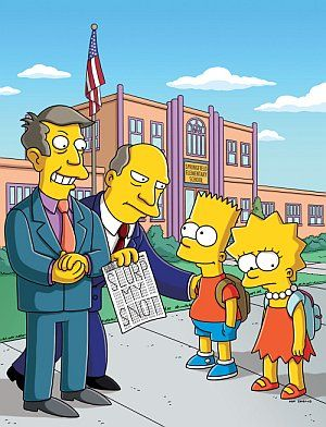 Bart, Lisa, Skinner e Shalmers / Divulgação
