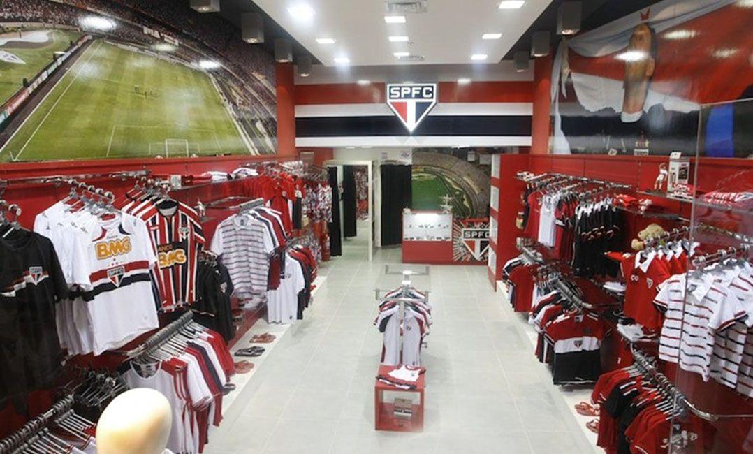 São Paulo cobra dívida da empresa que promove suas lojas (Foto   Divulgação São Paulo FC) 31d3902f2a776