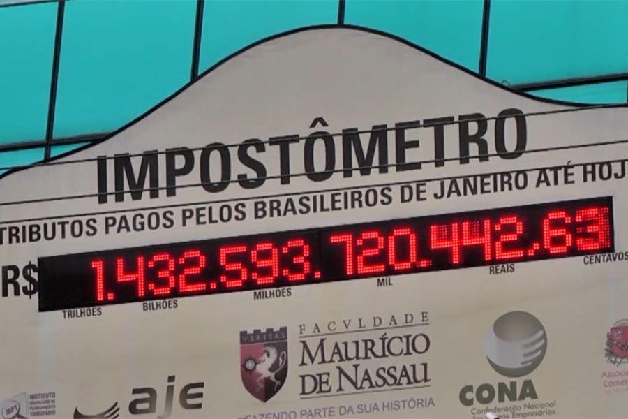 Impostômetro registra pagamentos de taxas desde 1º de janeiro / Arquivo Band Cidade