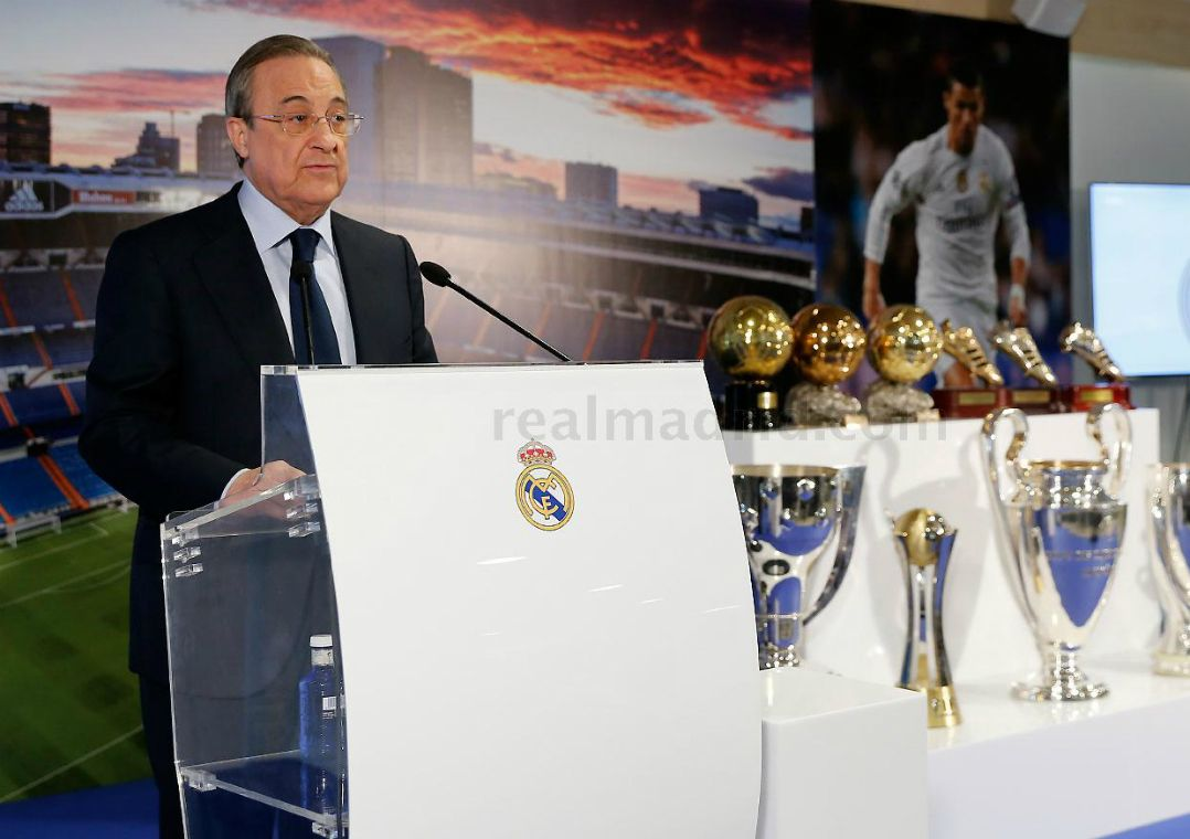 Florentino Perez vai seguir no comando do Real Madrid / Divulgação Real Madrid