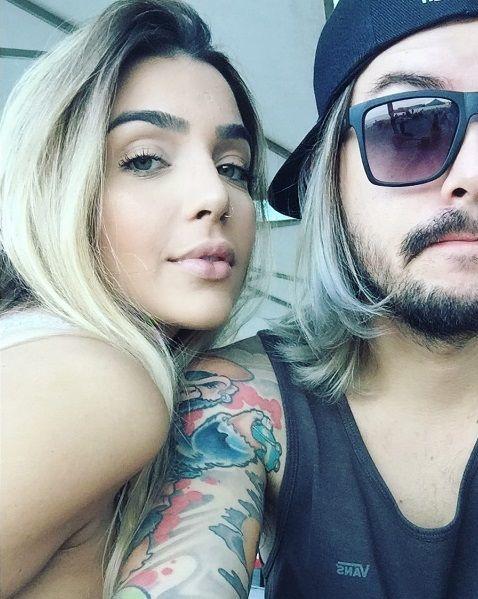 Pe Lanza e a namorada, Gabriela Merjan  / Divulgação/Instagram