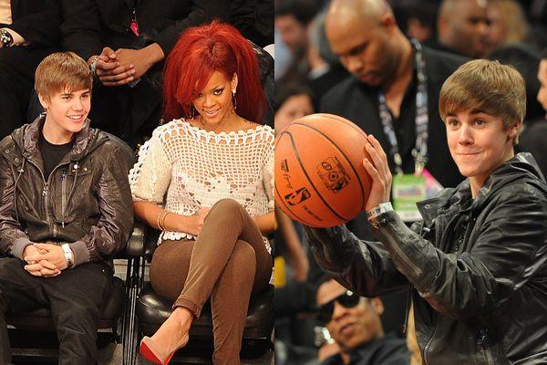 Justin Bieber e Rihanna em Los Angeles