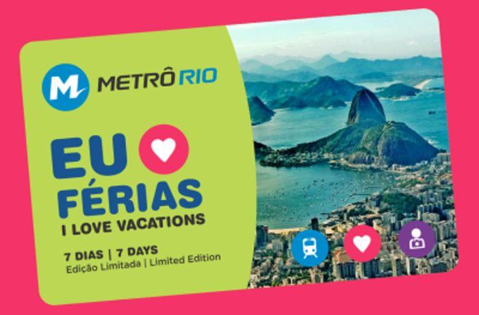 MetrôRio lança cartão especial de férias