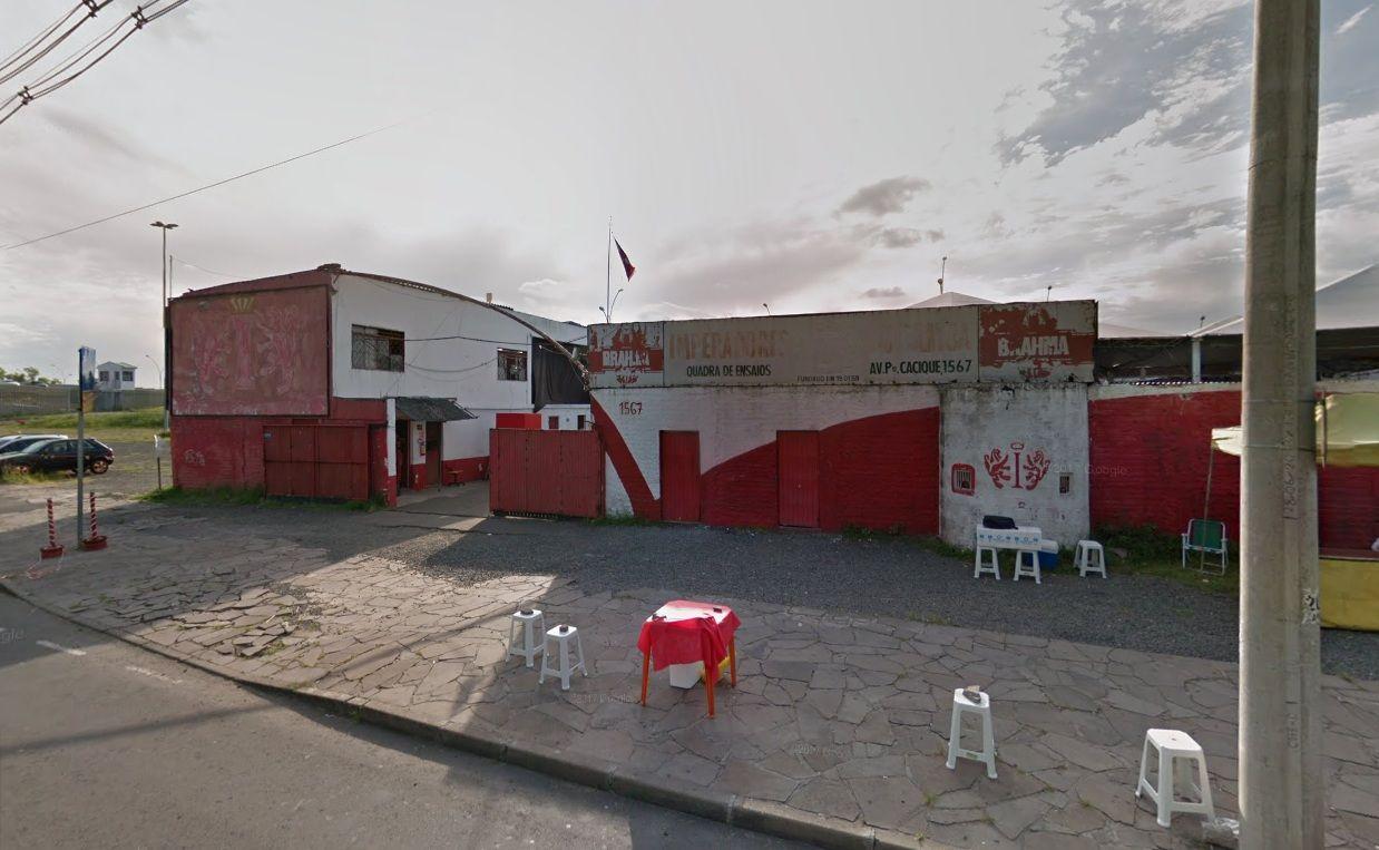 A escola é atual campeã do Carnaval de Porto Alegre / Google Street View