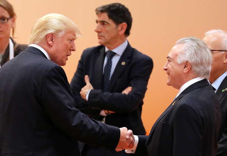 Trump elogiou economia do Brasil, diz Temer
