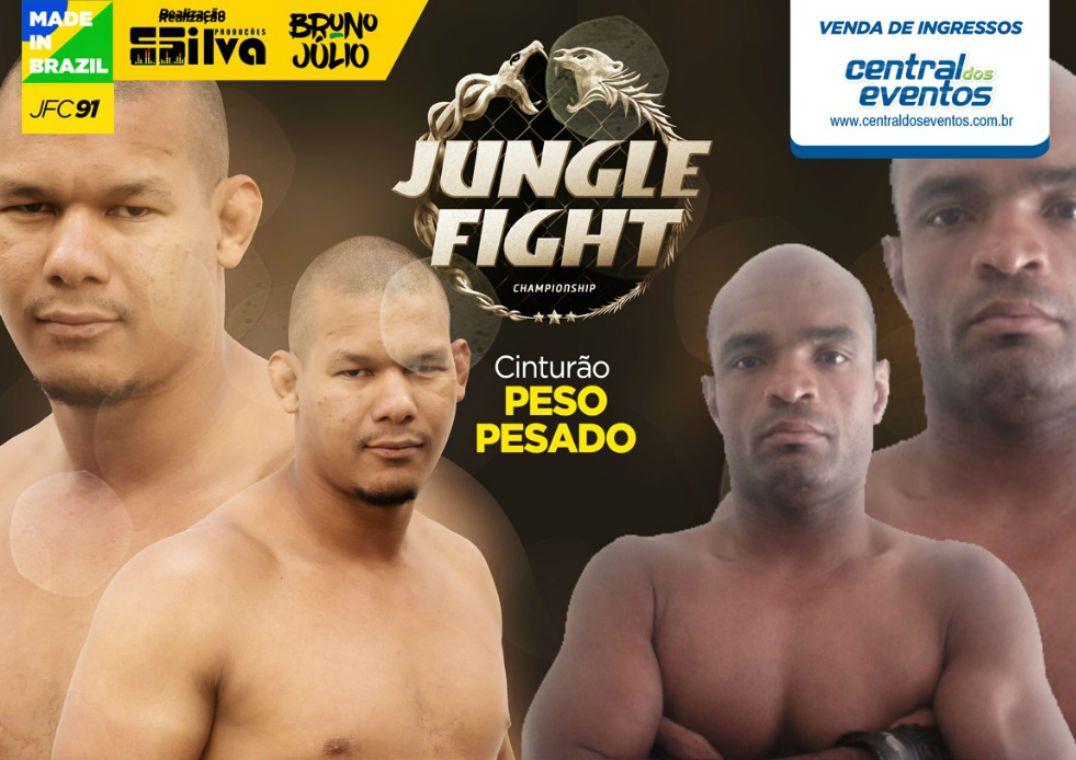Jungle Fight 91 terá nova disputa pelo cinturão dos pesados