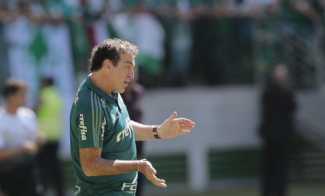Cuca destacou recuperação do Palmeiras contra o Vitória / Leonardo Benassatto/Framephoto/Estadão Conteúdo