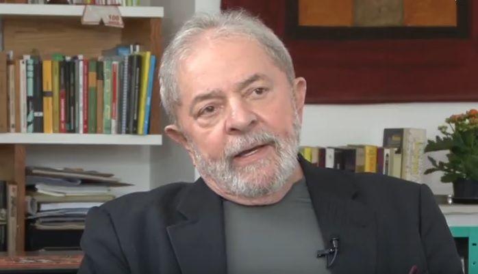 Lula em entrevista a canal do YouTube / Reprodução