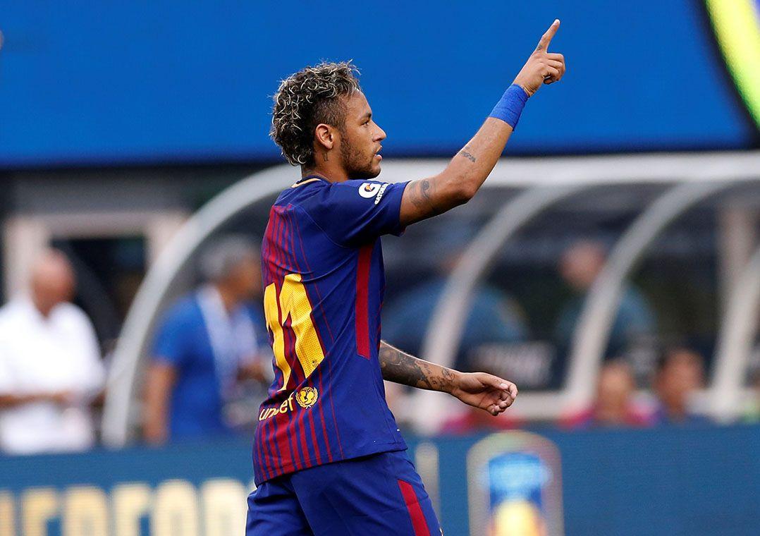 4c101a4dbb Neymar comemora gol na vitória sobre a Juventus em amistoso (Foto  Mike  Segar Reuters)