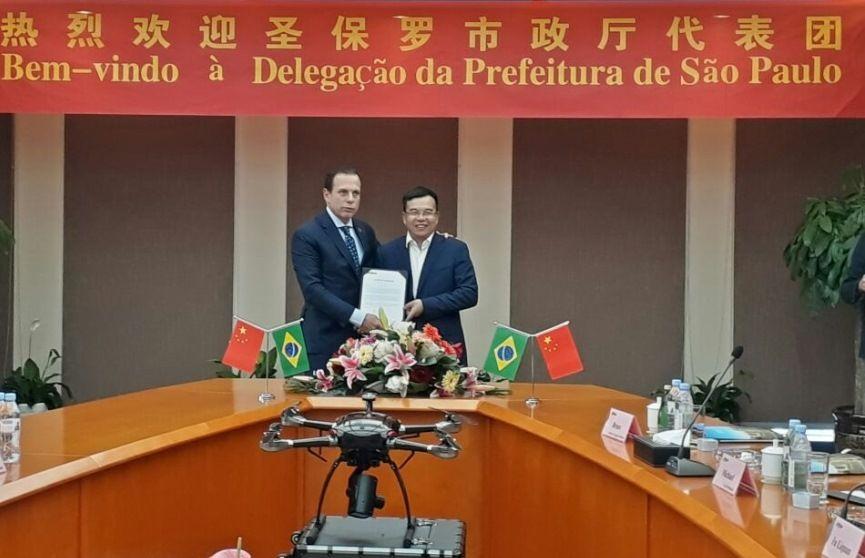 Doria consegue doação de 2 mil câmeras e dois drones na China