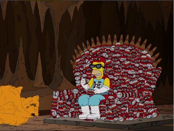 Homer no trono da Duff / Divulgação