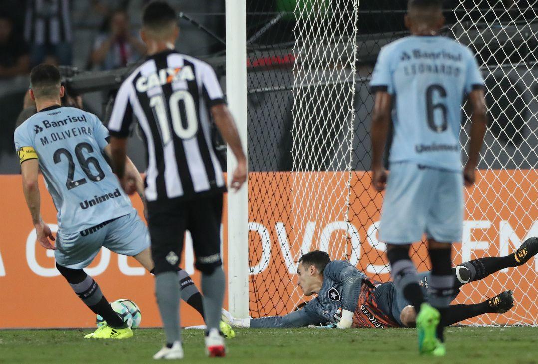 31281f4d32c84 Gatito defende pênalti e garante vitória do Botafogo sobre o Grêmio -  Band.com.br