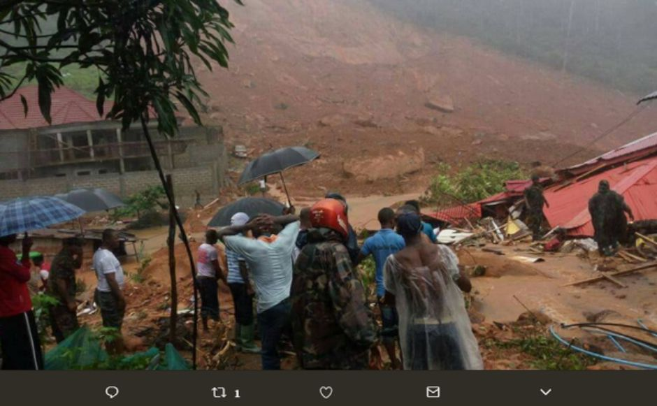 Serra Leoa: Deslizamento deixa mais de 300 mortos