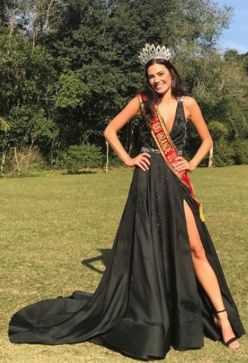 Juliana Mueller é a segunda colocada no Miss Brasil 2017