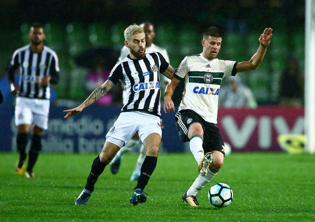 Coritiba e Santos não saem do zero em jogo morno