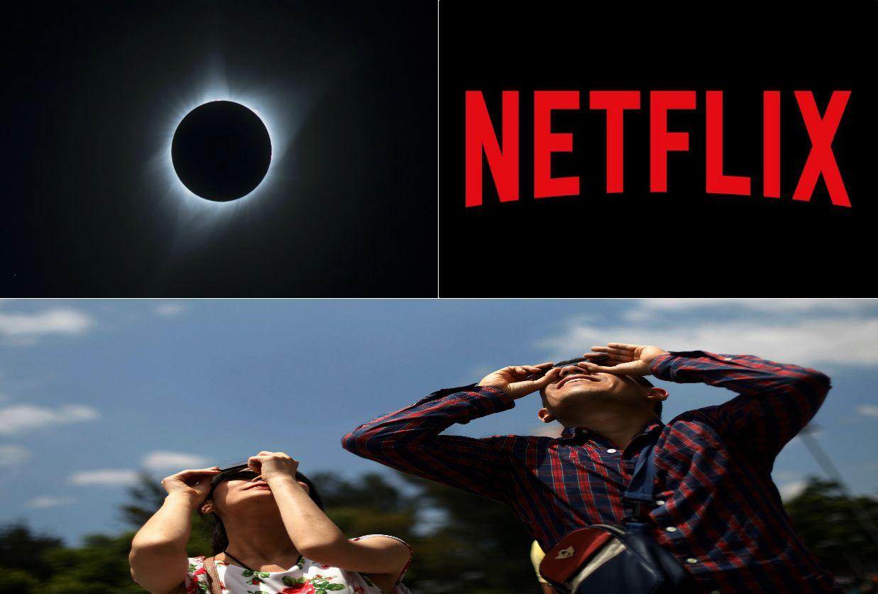 Netflix 'reclama' por perder audiência para o eclipse solar
