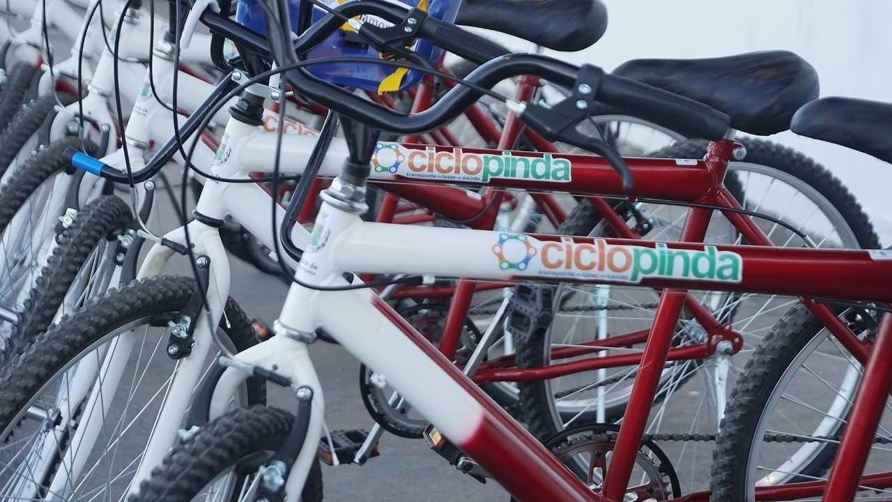 As bikes estão disponíveis no Parque da Cidade e podem ser utilizadas para passeios gratuitos. / Prefeitura de Pindamonhangaba