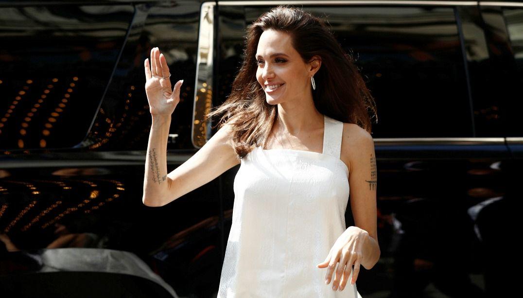 Jolie no tapete vermelho de The Breadwinner / Mark Blinch/Reuters