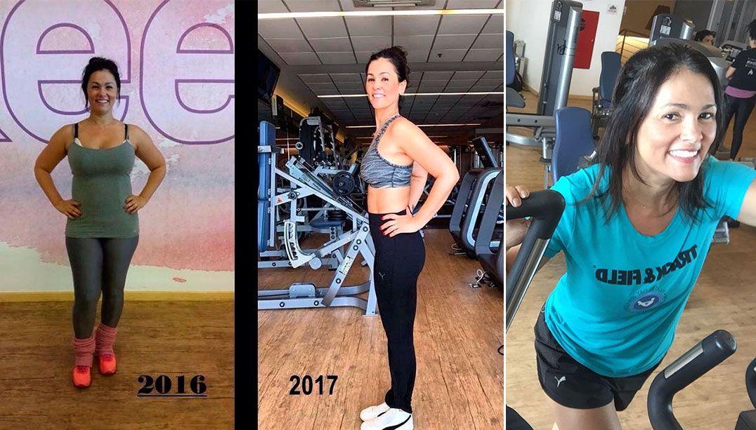 Suzana Alves seca 28kg e mostra antes e depois