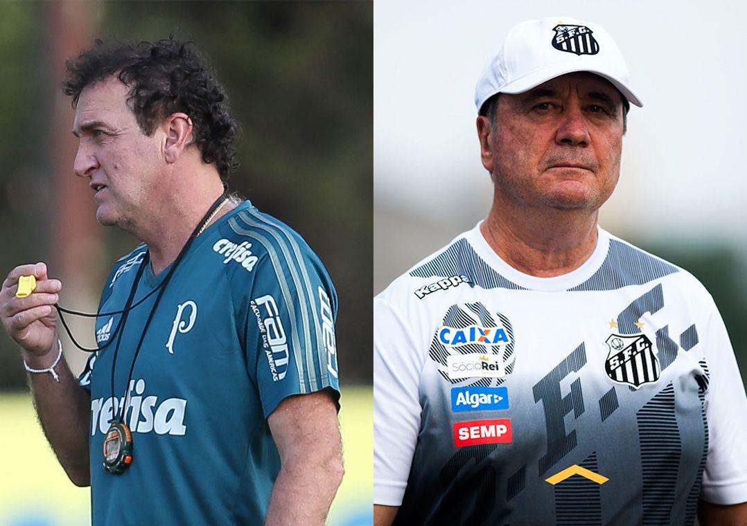 Times de Cuca e Levir Culpi estão no G4 do Campeonato Brasileiro (Foto   Cesar Greco Ag Palmeiras Divulgação e Ivan Storti Santos FC) 700bed4e20c4e