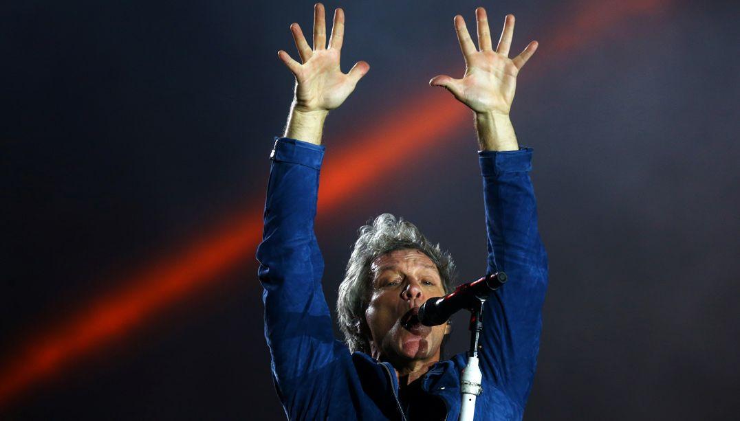 Jon Bon Jovi durante apresentação no Rock in Rio / Pilar Olivares/Reuters
