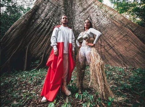 Anitta e Alesso nos bastidores do clipe / Divulgação/Instagram