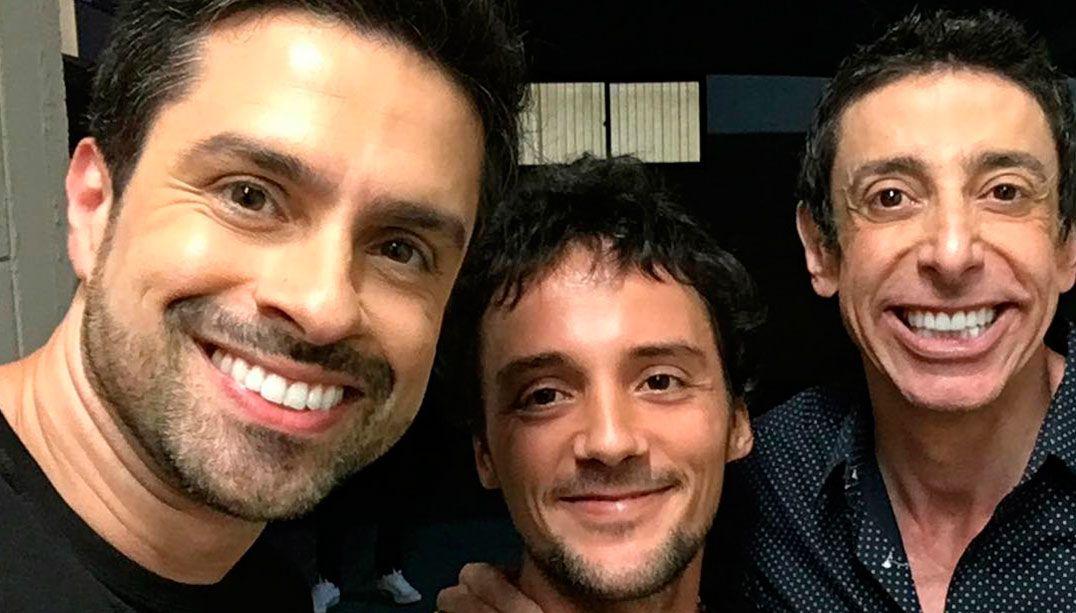 Pedro, Zeca e Nino em reencontro / Reprodução/Instagram