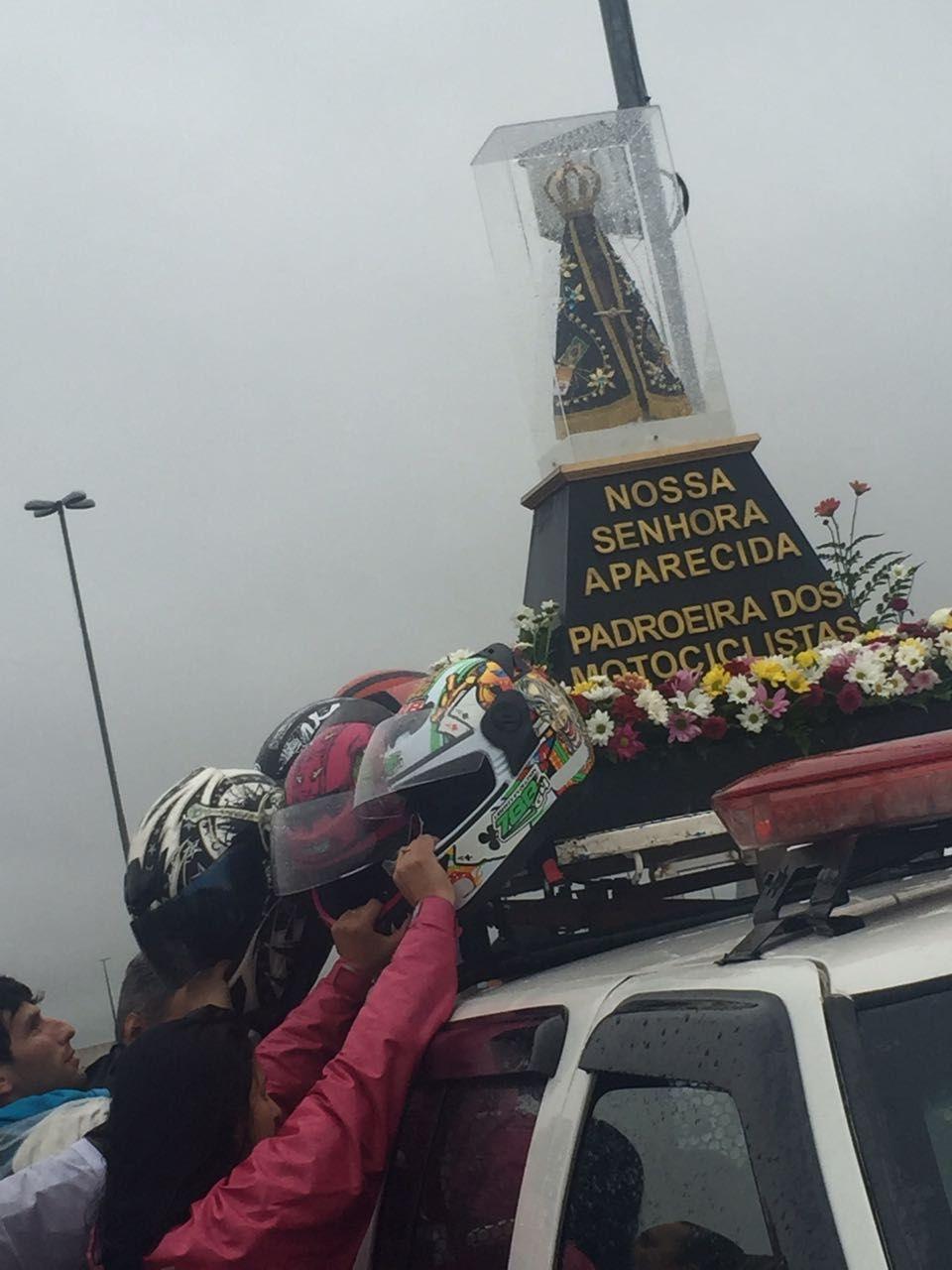 Além de Padroeira do Brasil, Nossa Senhora Aparecida é protetora dos motociclistas. / Daniela Lemes / Rádio Bandeirantes