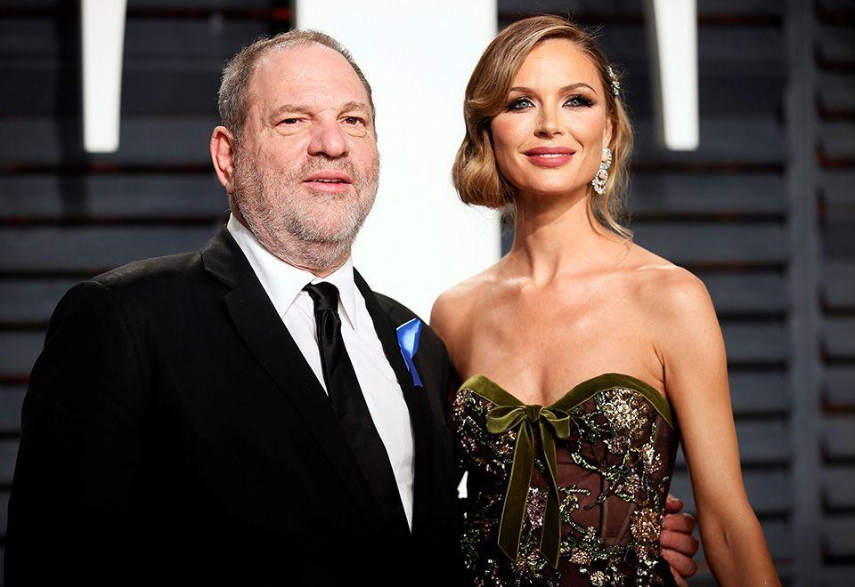 Georgina Chapman e Harvey Weinstein em foto de fevereiro de 2017 / Danny Moloshok/Reuters
