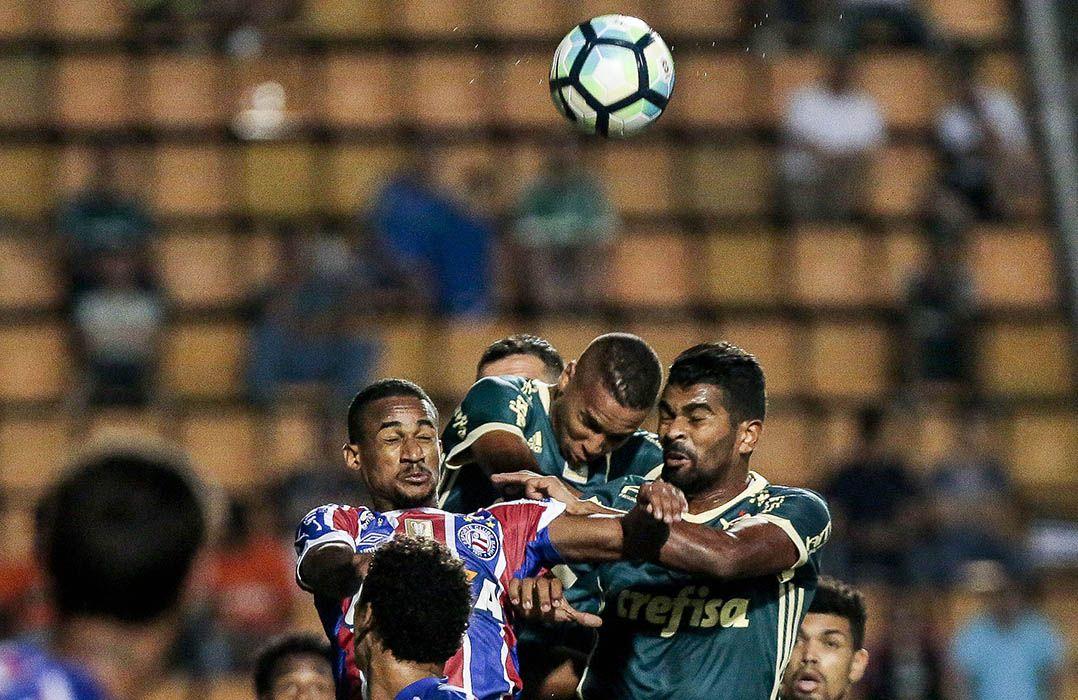 Palmeiras não conseguiu segurar a vantagem contra o Bahia / Ale Cabral/Agif/Estadão Conteúdo