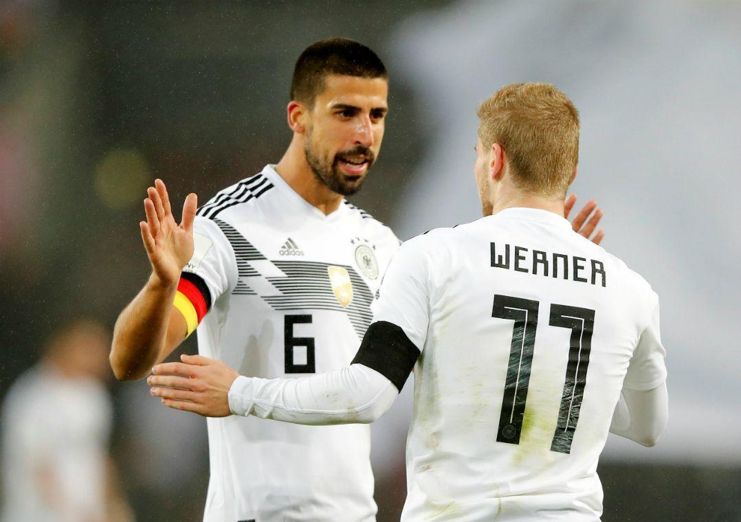 Na foto, Timo Werner, que marcou para a Alemanha  / Wolfgang Rattay/Reuters