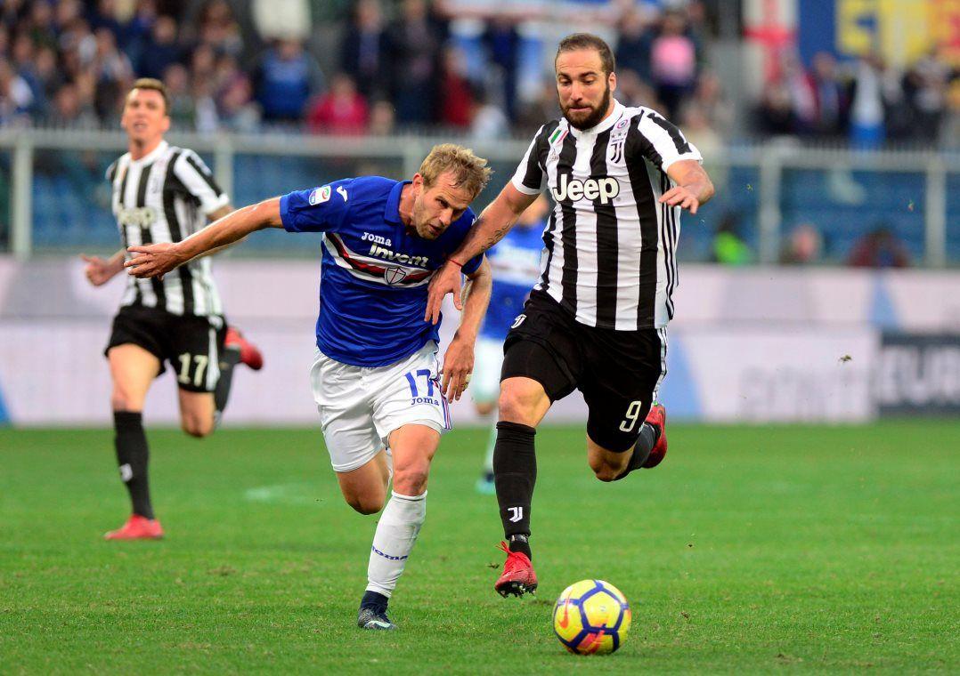 Juve reage no fim, mas não evita derrota para a Sampdoria