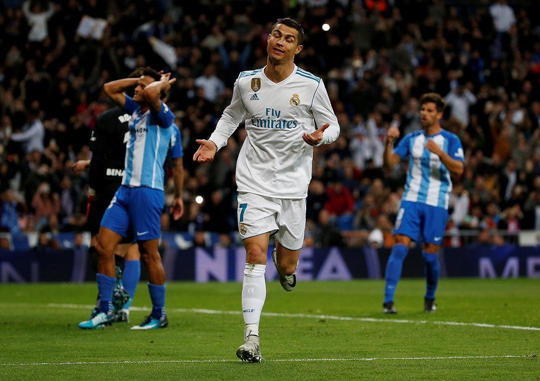 2fc0c2a21d Cristiano Ronaldo comemora gol sobre o Málaga