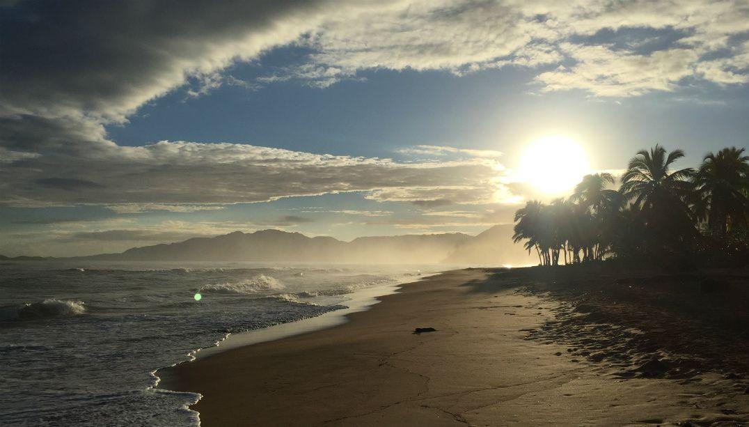 O nascer do sol em Lanza del Norte