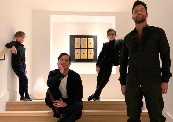 Ricky Martin expõe filhos com dois pais: Quero que achem normal