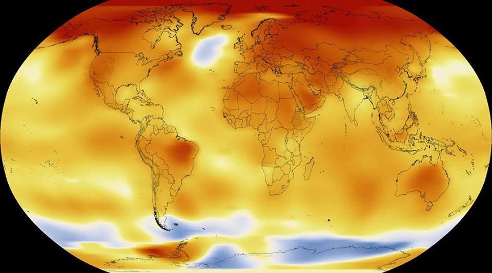 Período entre 2015 e 2017 foi o mais quente já registrado