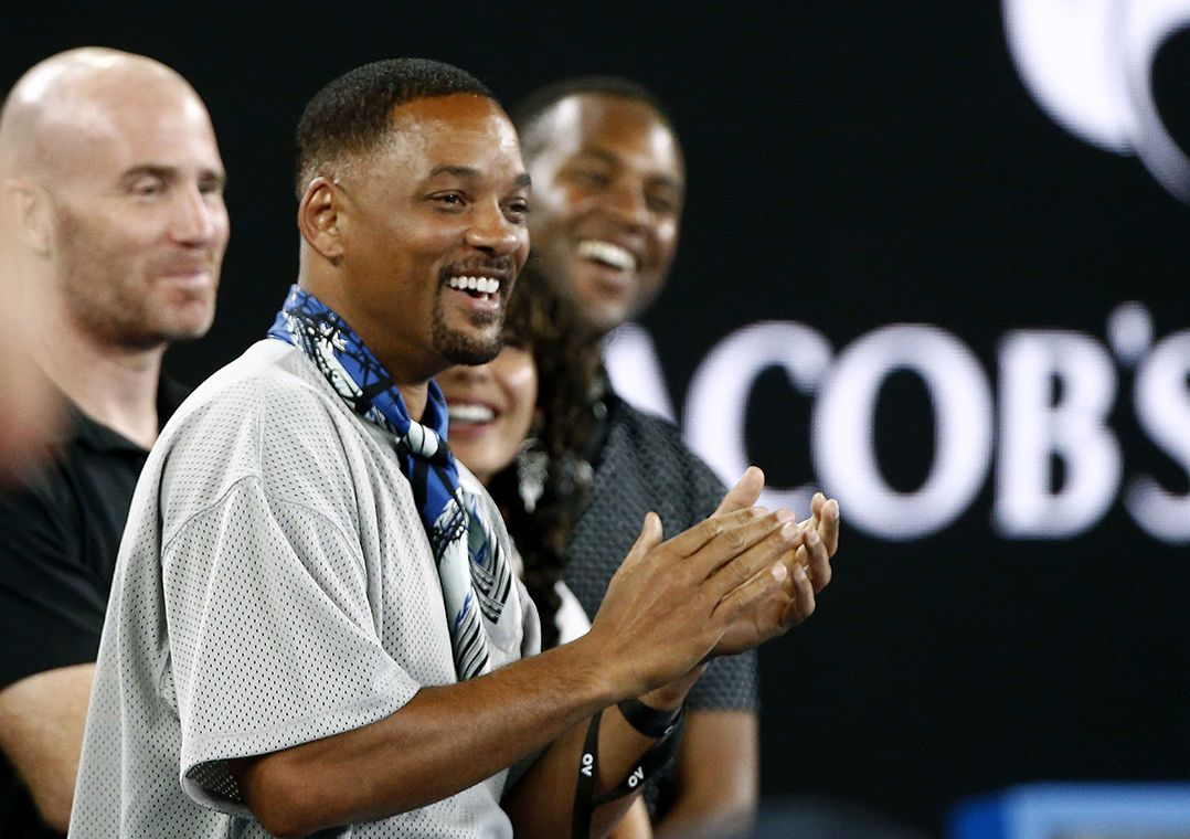 Kyrgios tira sarro de Will Smith no Australian Open