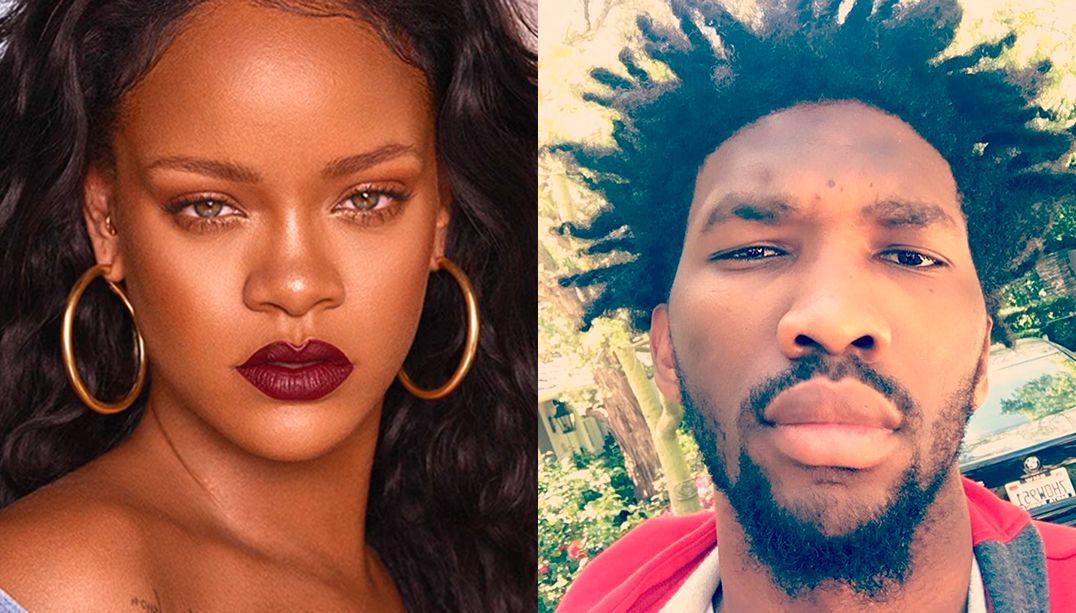 Fãs de Joel Embiid pedem que Rihanna aceite encontro com ele