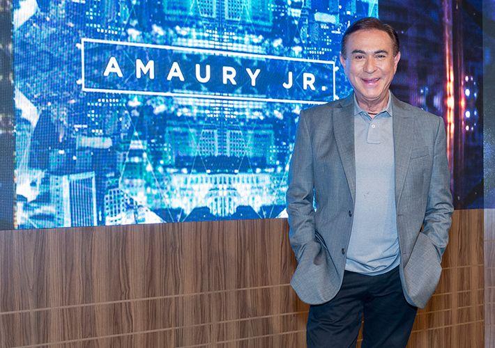 Famosos desejam boa sorte a Amaury Jr. na estreia