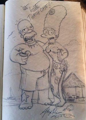 Desenho deixado no livro / Divulgação Tatch Caye