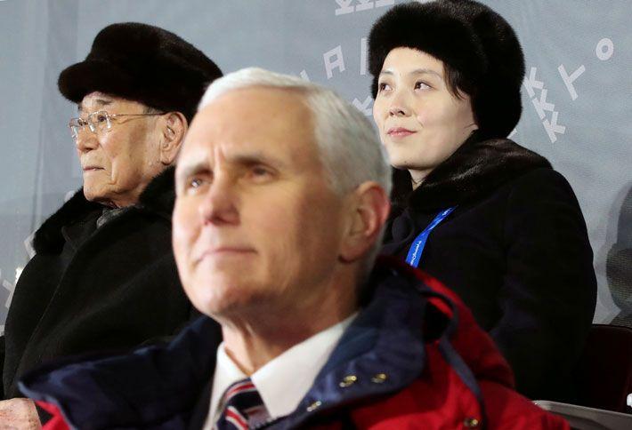 Pence e irmã do ditador norte-coreano