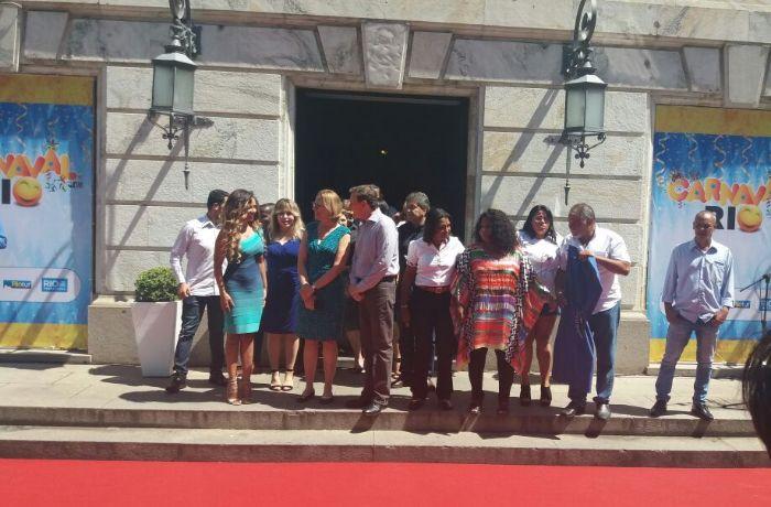 Crivella participou da cerimônia de entrega da chave da cidade / Ana Lícia Soares