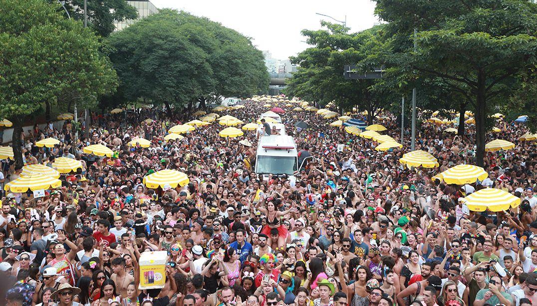 Bloco Pinga Ni Mim arrastou foliões pela Av. 23 de Maio