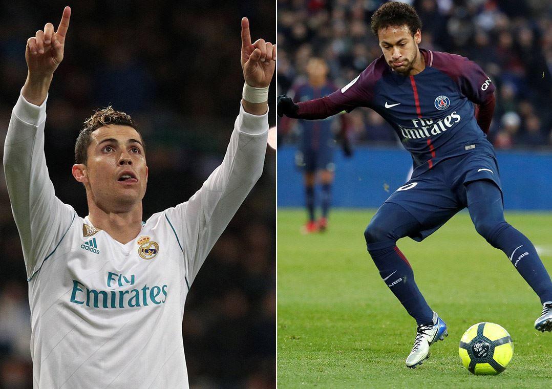 Cristiano Ronaldo e Neymar vão duelar nesta tarde / Reuters
