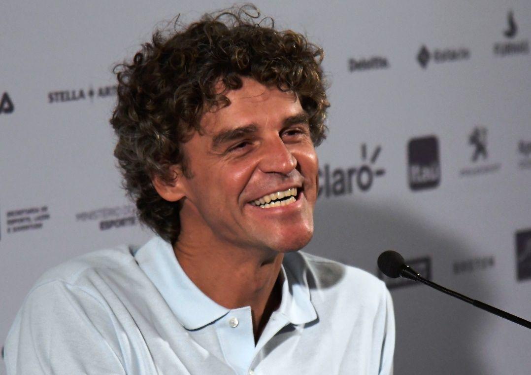 Guga brincou dizendo que não era difícil vencer Federer / Thiago Ribeiro/Agif/Estadão Conteúdo
